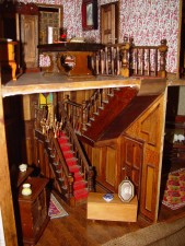 dukke, hus, trapperom, montere, Barker, museum, western, Australia
