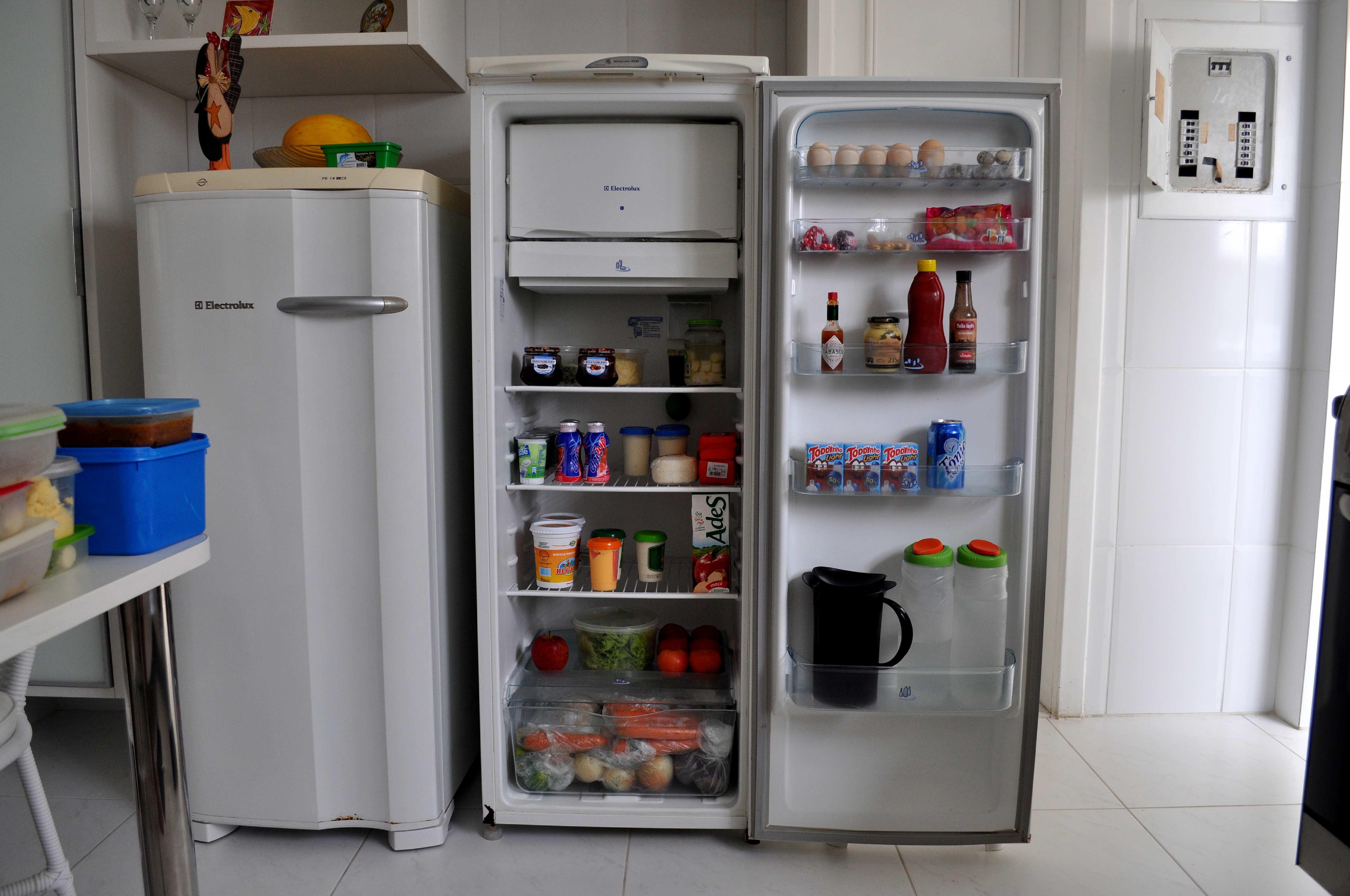 Free photograph; fridge, groceries