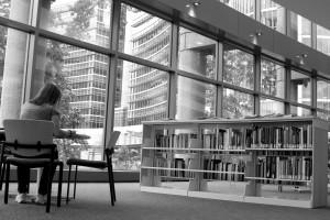 siège, bibliothèque, bâtiment