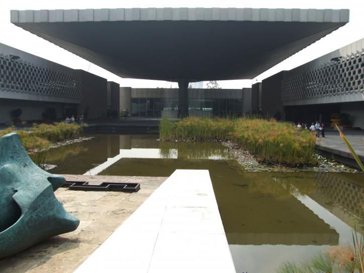 Innenraum, Hof, anthropologischen, Museum, Mexiko, Stadt