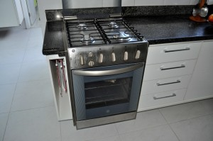 kitchen, gas, stove, stainless, steel