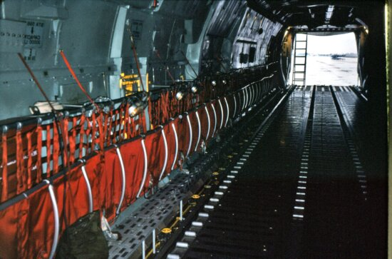 looking, rear, jet, interior, mobile, quarantine, facility