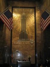 murale, hall d'entrée, empire, état, bâtiment, New York, ville