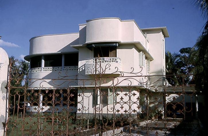 vieux, roseau, colline, maison, Dacca, est, le Pakistan, est devenu, Bangladesh, 1971