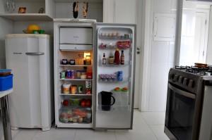 open, fridge, kitchen