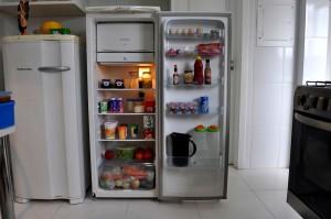 refrigerator, kitchen, food