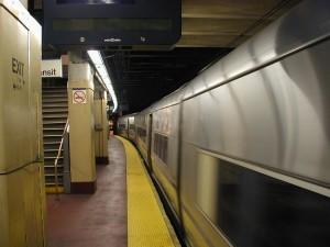 rrail, station, métro