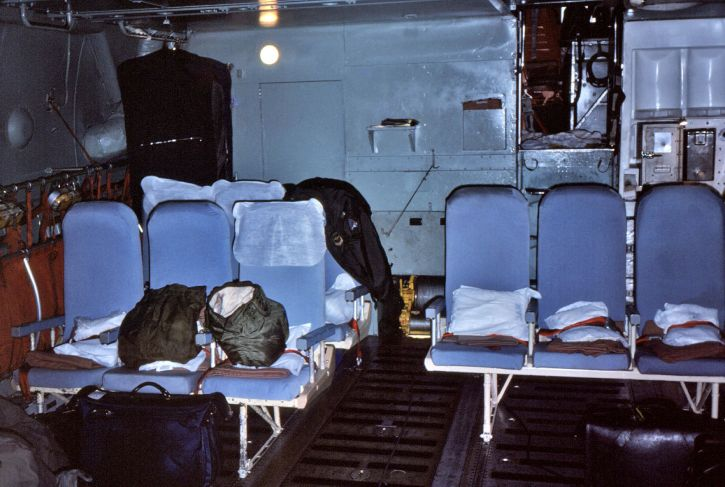 sièges, configuration, ventre, région, jet, avion