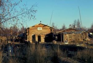 malé, staré, log, budov, vilage