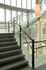 stairwell, constructed, open, architectural, style