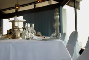bryllup, tabel, champagne, chokolade