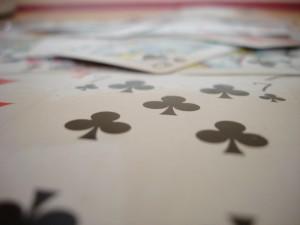 mucchio, gioco, carte