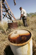 abandoned, oil, well, tank