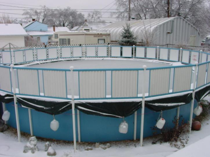 ground, pool