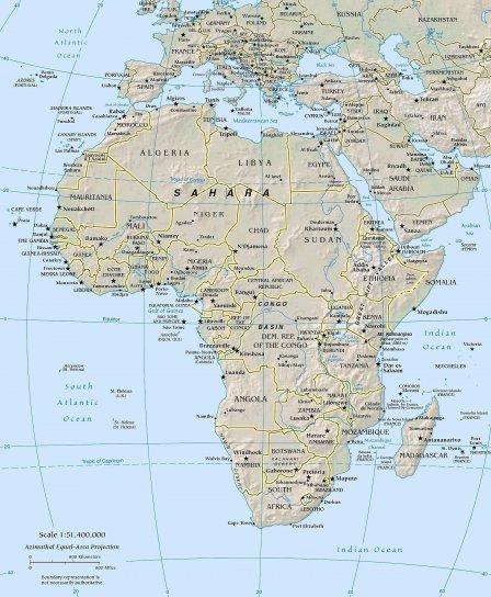 Afrique, géographie, politique, carte