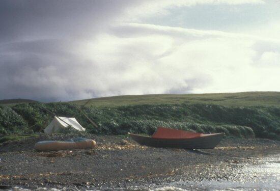 agattu, island, cove, field, camp