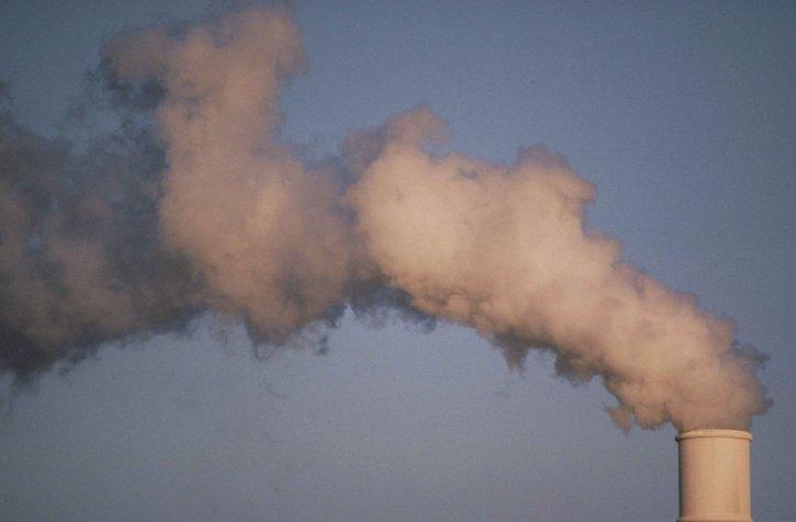aire, la contaminación, el humo, el aumento, planta, torre