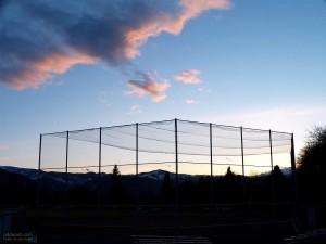ballfield, natt