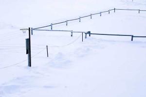 basket-ball, de la neige