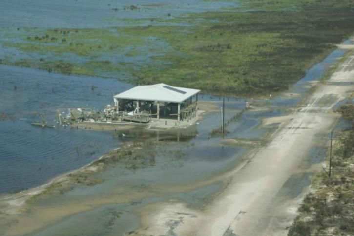 strand, hus, orkanen