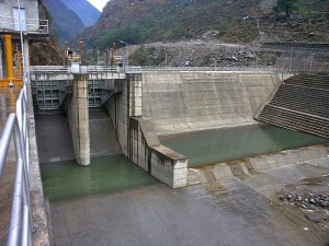 Bhote, koshi, mégawatt, la centrale, à distance, région, Népal, construit