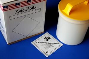 biologicznie niebezpiecznymi, materiały, znak