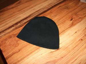 sininen, neulo, fleece, hattu