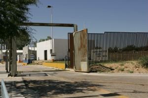 frontière, clôture, portail