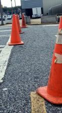 brightly, colored, orange, road, cones