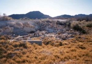 cabine, restauration, ruines, désert