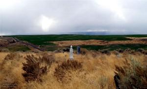 cimetière, montagnes