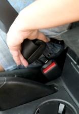 de près, la sécurisation, la voiture, la ceinture de sécurité