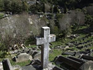 croix, tombes, karori, cimetière
