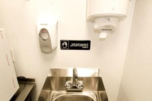 employés, lavage, mains, de retour, le travail