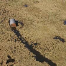 installations, structures, sur le terrain, l'ouragan