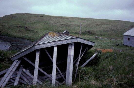 farm, house, ruins