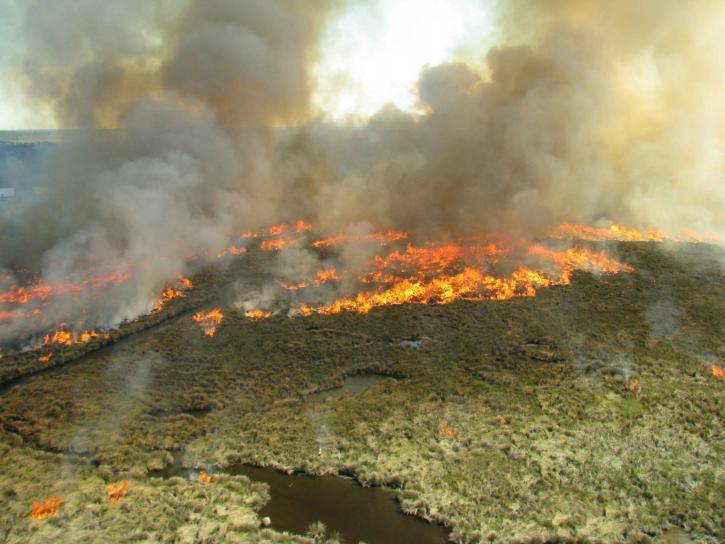aerial, photograph, prescribed, burning, refuge