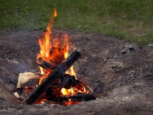 campfires, burning, wood, pits