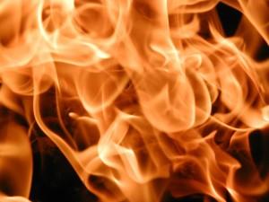 feu, de près, la texture