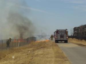 fire department, field work, fire