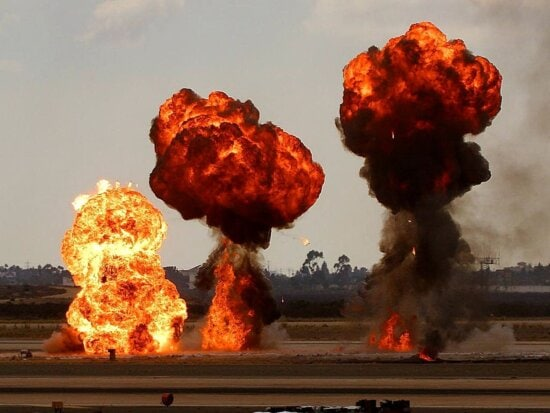 fire, explosions
