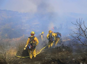 pompier, de l'équipage, le feu, l'action