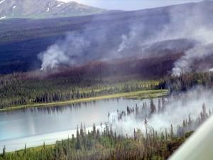 Skilak See, Gebiet, Feuer, brennen