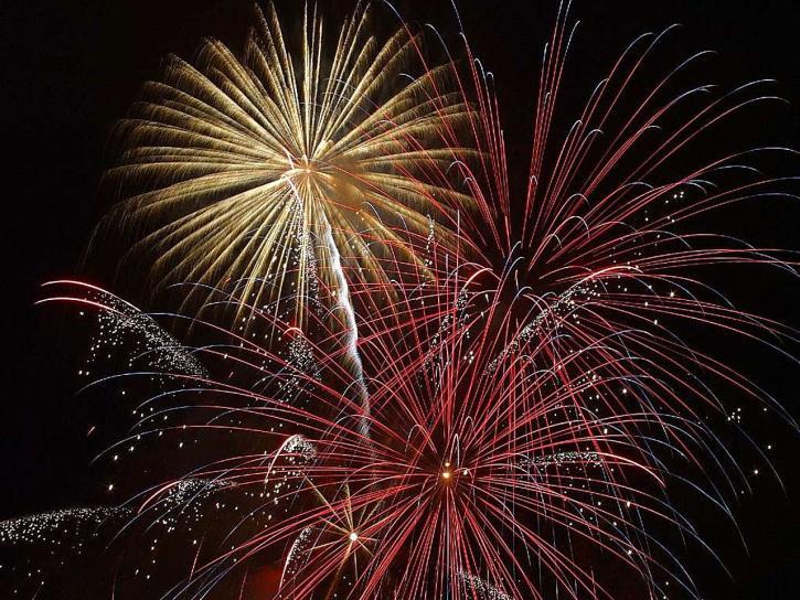 beautiful, sky, fireworks