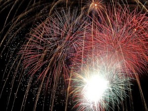 fuochi d'artificio, San Diego, notte