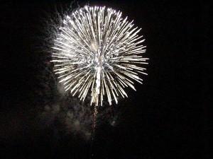 feux d'artifice, quatrième, juillet