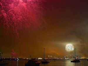 fireworks, San Diego, bay, fourth, july