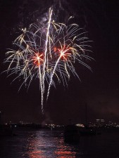πυροτεχνήματα, Ντιέγκο, Κόλπος, τέταρτον, Ιούλιος