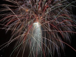 fogos de artifício, público, domínio, imagem