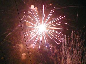 花火、スパーク、ライト